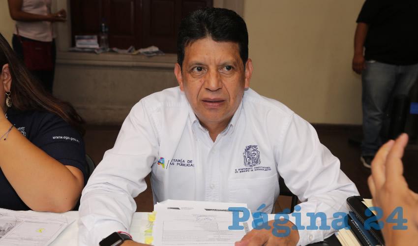Marco Antonio Licón Dávila, secretario de Obras Públicas (Foto: Eddylberto Luévano Santillán)