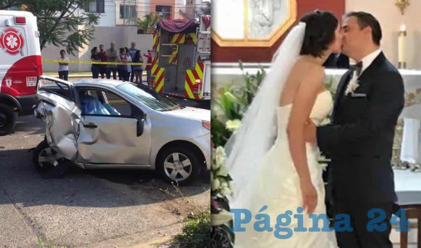 Los peritajes del IJCF revelaron que el presunto responsable del accidente fue el futbolista, quien conducía un Mustang blanco sobre la Avenida Tepeyac, a su cruce con la calle Playa de Hornos, en Zapopan. Una pareja de recién casados murió a consecuencia del impacto/Foto: Tomada de Twitter