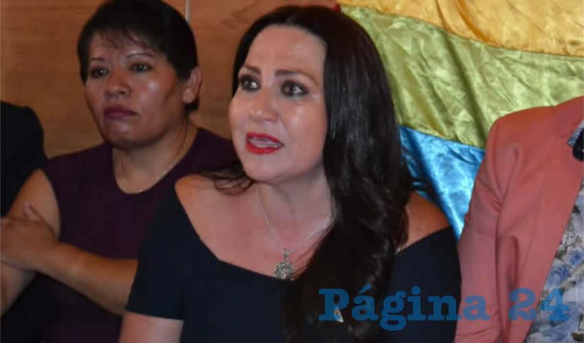 Mónica Borrego Estrada, diputada local que impulsa en la 63 Legislatura la aprobación del matrimonio igualitario, sostuvo que en el Congreso local defenderá los derechos humanos que no son excluyentes (Foto Merari Martínez)