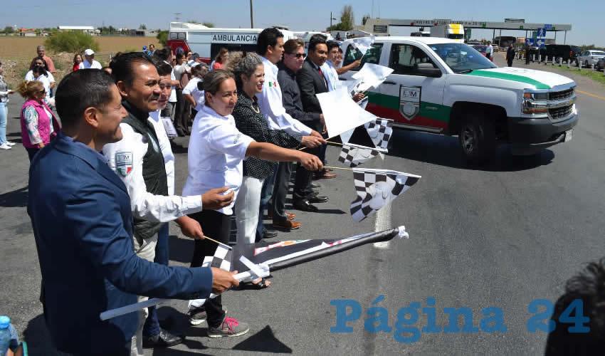 En la caseta de cobro de Calera se dio el banderazo de salida al Programa Paisano en el estado (Foto: Merari Martínez)