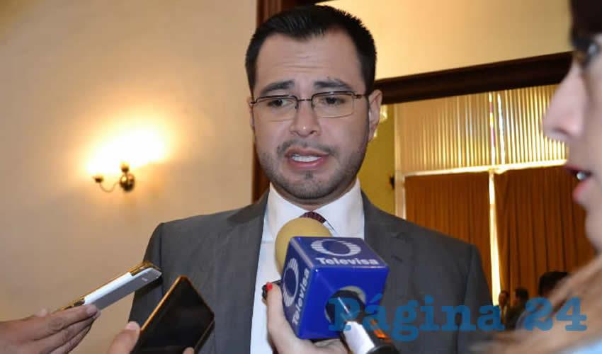 Jehú Eduí Salas Dávila, secretario general de Gobierno (Foto Merari Martínez)