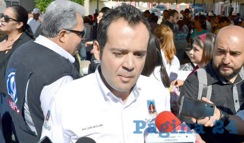 Ulises Mejía Haro, presidente municipal de Zacatecas (Foto Merari Martínez)
