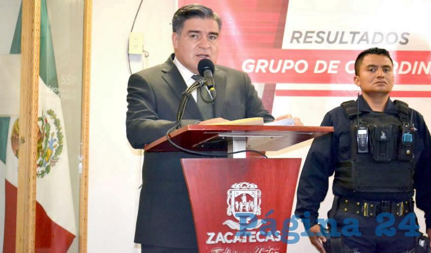 Ismael Camberos Hernández, titular de la Secretaría de Seguridad Pública (SSP) (Foto Merari Martínez)