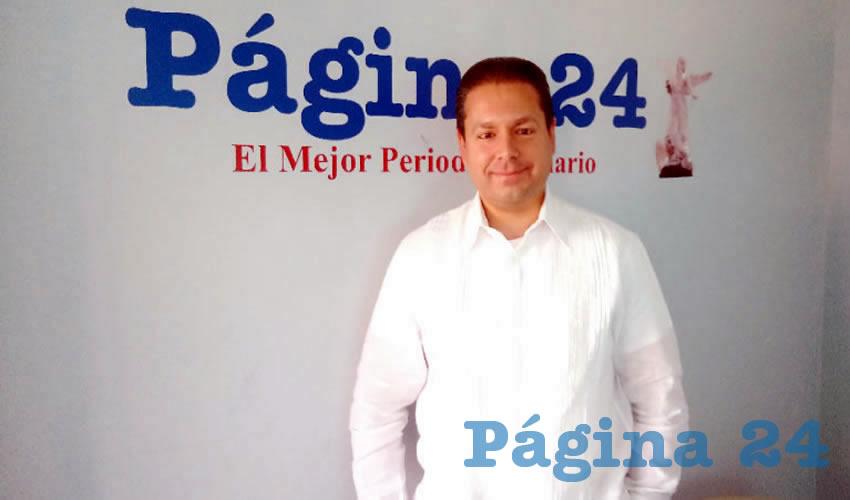 Wolfgang Erhardt Varela, vocero nacional del Buró de Crédito (Foto Merari Martínez Castro)