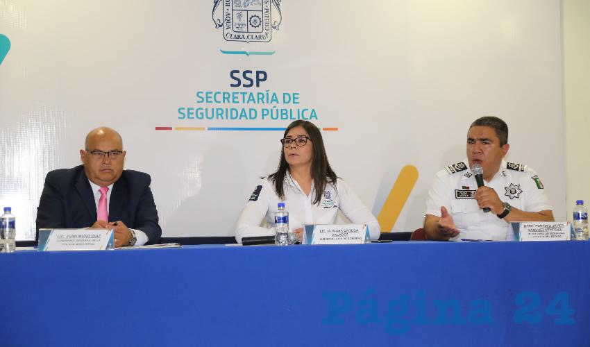 Rueda de prensa de Seguridad (Foto: Eddylberto Luévano Santillán)
