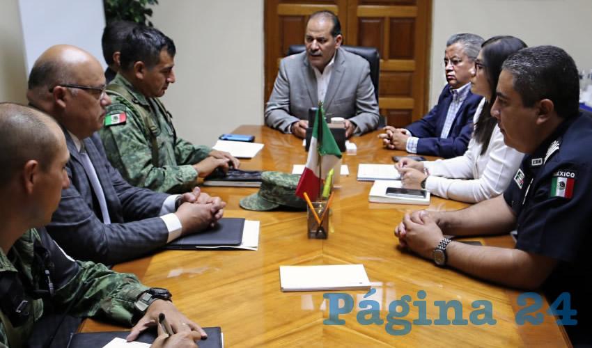 Encabeza el Gobernador la Primera Reunión de  Coordinación Operativa con la Guardia Nacional