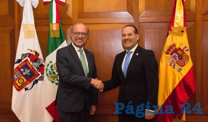 Reconoce el Embajador de España en México la Solidez Económica y Educativa de Aguascalientes