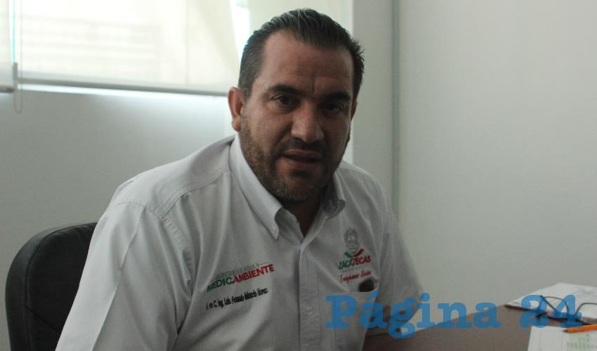 Luis Fernando Maldonado Moreno, titular de la Secretaría del Agua y el Medio Ambiente (SAMA) (Foto: Manuel Medina Castro)