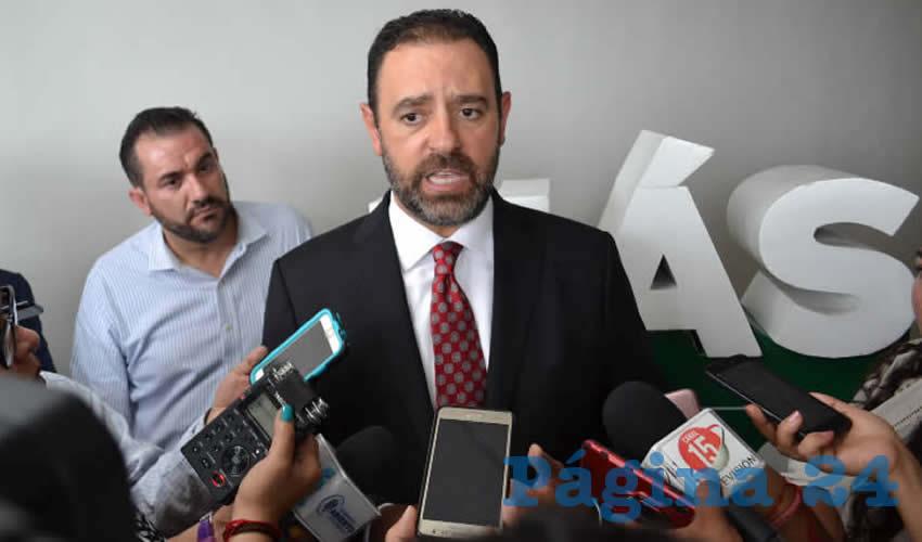 Alejandro Tello Cristerna y Luis Maldonado en entrevista (Foto: Merari Martínez)