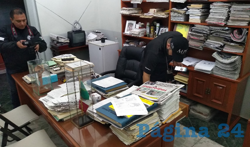 El dueño de TRIBUNA LIBRE y Página 24, en Aguascalientes y Zacatecas, acusó que en el cateo y aseguramiento de la FGR a sus instalaciones, el pasado 8 de julio, está escondido un ataque a la libertad de expresión por parte de exgobernadores