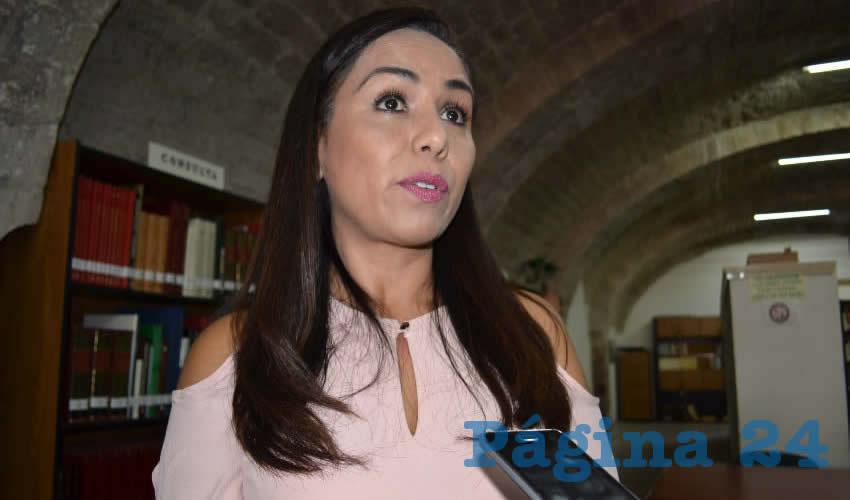 Fabiola Inguanzo González, secretaria de Desarrollo Económico y Turismo del municipio de Zacatecas (Foto Merari Martínez)