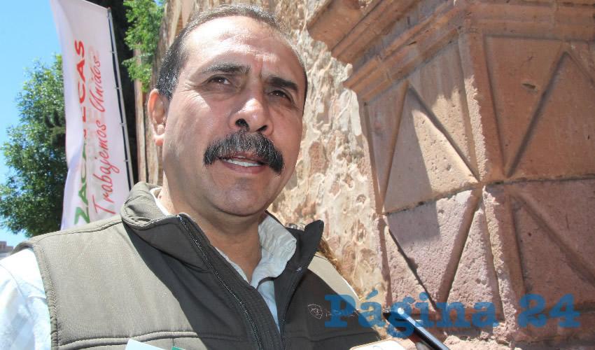 Marco Antonio Regis Zúñiga, presidente municipal de Cañitas de Felipe Pescador (Foto Archivo Página 24)