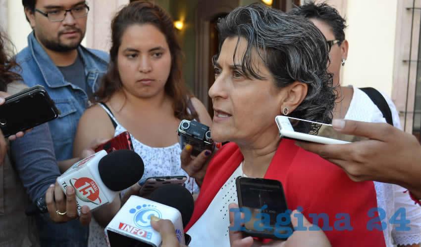 Gema Mercado Sánchez, titular de la Secretaría de Educación de Zacatecas (Seduzac). (Foto Merari Martínez)