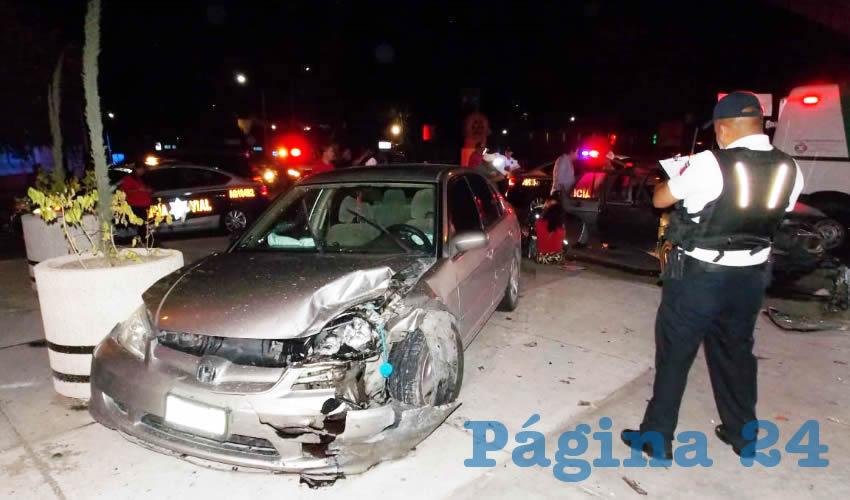 A pesar de que los autos sufrieron daños considerales, no hubo nadie herido