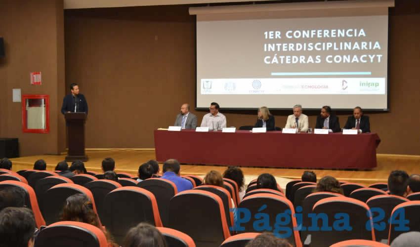 El director del Consejo Zacatecano de Ciencia y Tecnología (Cozcyt), Agustín Enciso Muñoz, refirió que es un honor ser anfitriones de las cátedras en la entidad (Foto: Merari Martínez)