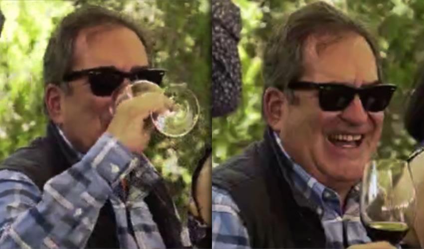 Ah, qué ricura es vitivinicultor nailon | Frente a una copa de vino, yo me río de mí