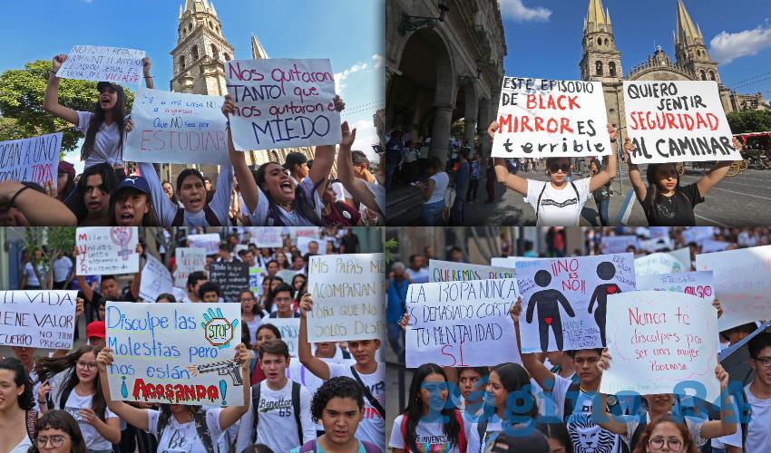 Cientos de Alumnos Exigen Seguridad en Guadalajara
