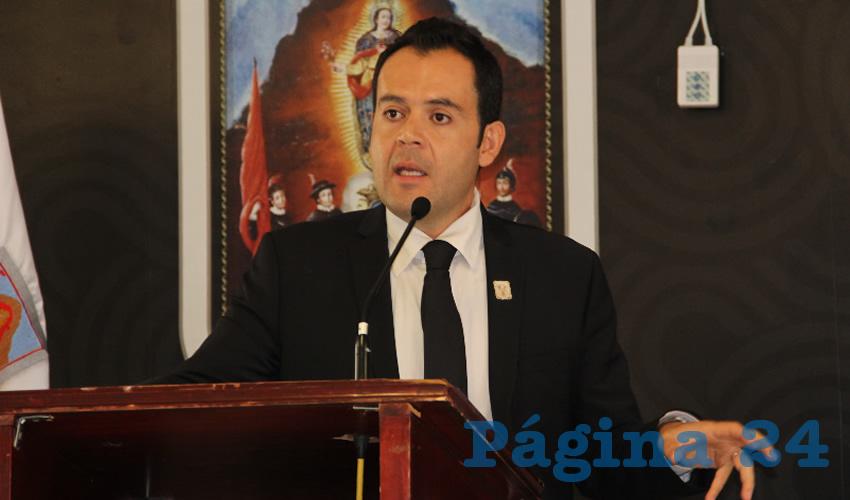 Ulises Mejía Haro, presidente municipal de Zacatecas (Foto: Rocío Castro Alvarado)