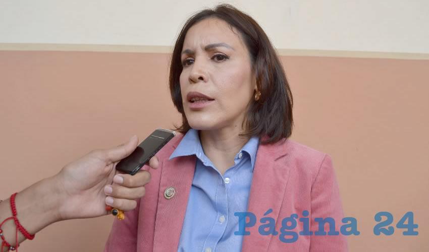 Perla Martínez Delgado, diputada local (Foto: Merari Martínez)
