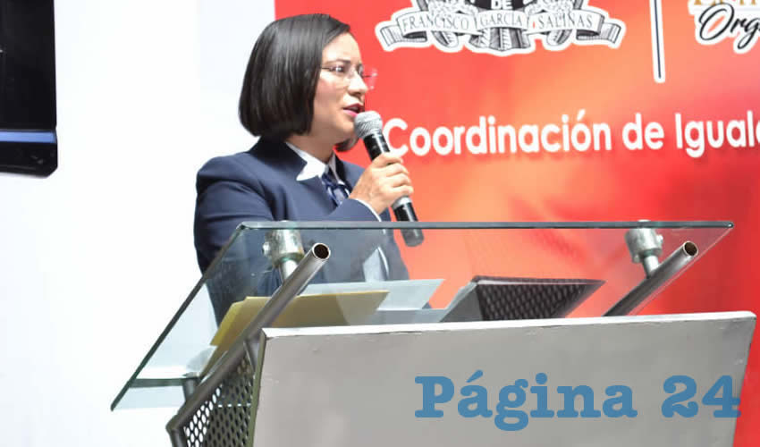 María de la Luz Domínguez Campos, titular de la Comisión de Derechos Humanos del Estado de Zacatecas (Foto: Merari Martínez)