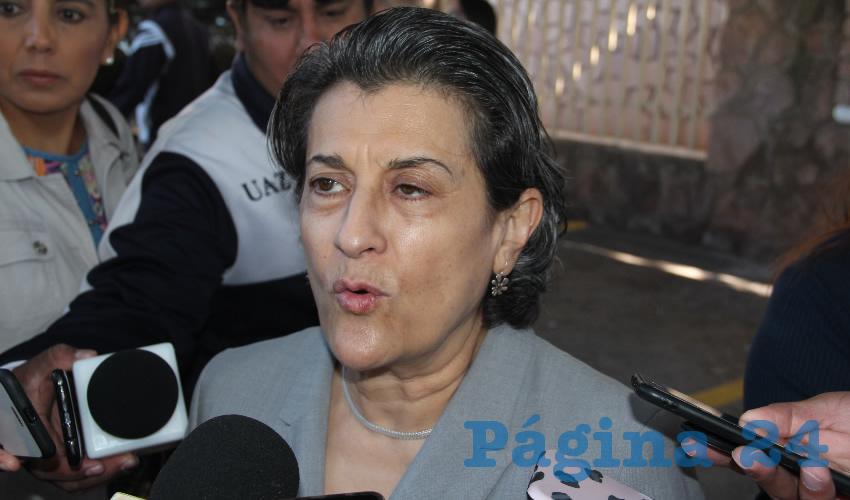 Gema Mercado Sánchez, titular de la Secretaría de Educación de Zacatecas (Foto: Rocío Castro)