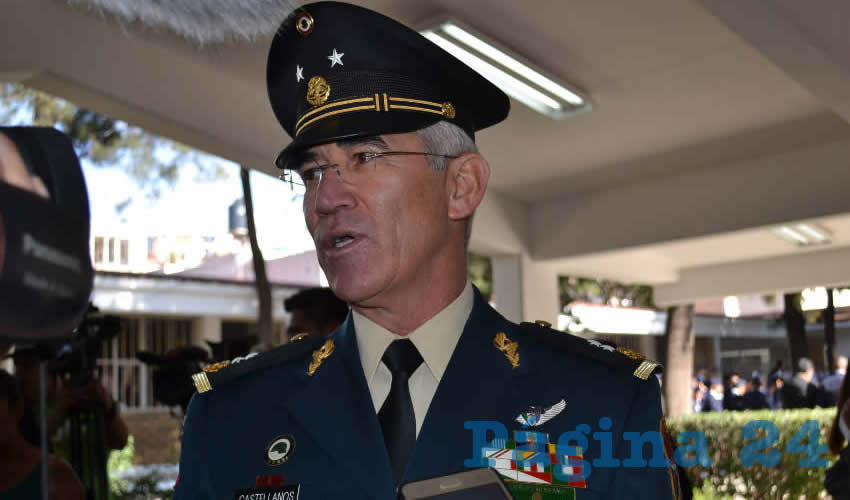 Rogelio Castellanos Franco, general de brigada del Estado Mayor de la onceava zona militar en Zacatecas (Foto: Merari Martínez)