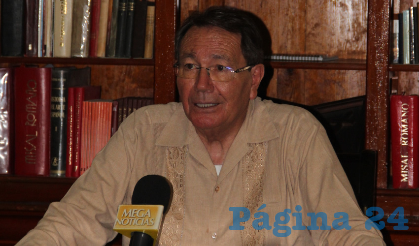 Sigifredo Noriega Barceló Foto Rocío Castro, obispo de la Diócesis de Zacatecas