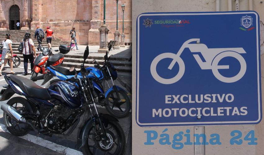 Los motociclistas consultados por Página 24 Zacatecas coincidieron es que es necesario se contruyan más estacionamiento similares en el Centro Histórico