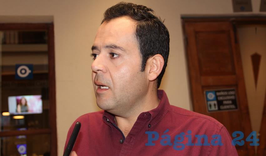 Ulises Mejía Haro, alcalde de la capital zacatecana (Foto: Rocío Castro Alvarado)
