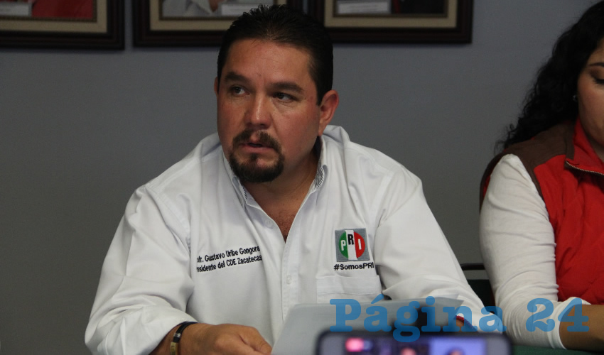 Gustavo Uribe Góngora, presidente del Comité Directivo Estatal del Partido Revolucionario Institucional (Foto: Rocío Castro Alvarado)