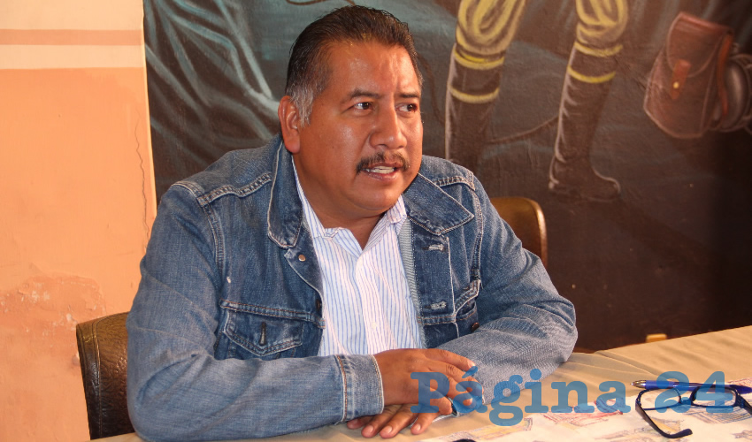 Felipe Pinedo Hernández, integrante del Frente Popular de Lucha de Zacatecas (Foto: Rocío Castro Alvarado)