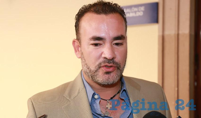 Mauricio González López, regidor del Ayuntamiento de Aguascalientes (Foto: Eddylberto Luévano Santillán)