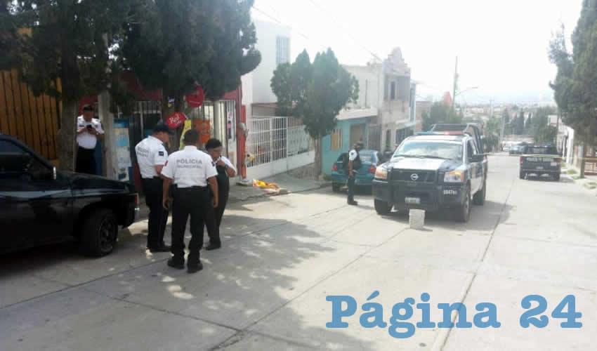 Sobre la calle Del Alfil Blanco, fue herido de gravedad Pierre Iván Hernández Herrera