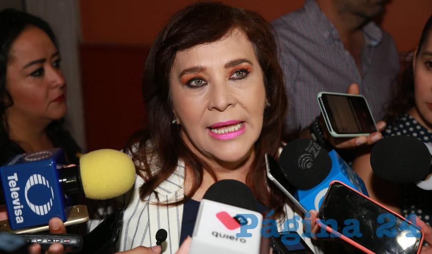 Margarita Gallegos Soto, diputada local (Foto: Eddylberto Luévano Sabtillán)