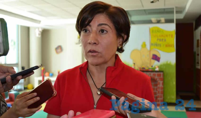 Judit Magdalena Guerrero López, directora general del Colegio de Bachilleres del Estado de Zacatecas (Cobaez) (Foto Merari Martínez)