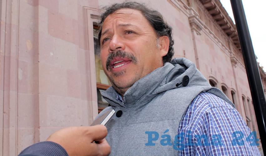 Alejandro Rivera Nieto, secretario general del Sindicato Independiente de Trabajadores del Estado de Zacatecas (SITEZ) (Foto Rocío Castro Alvarado)