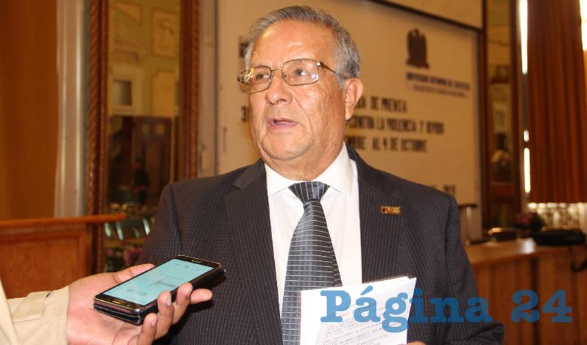 Esaúl Arteaga Domínguez, secretario de Actividades Culturales del Sindicato de Personal Académico de la Universidad Autónoma de Zacatecas (SPAUAZ) (Foto Rocío Castro Alvarado)