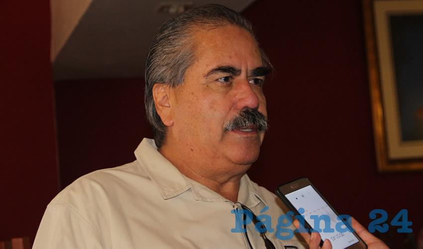 Felipe Álvarez Calderón, dirigente estatal del partido político Movimiento Ciudadano (MC) (Foto: Rocío Castro Alvarado)