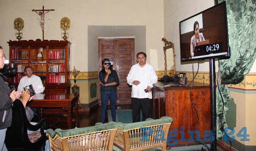 Sigifredo Noriega Barceló, obispo de la Diócesis de Zacatecas negó categóricamente los señalamientos que hizo en tribuna la diputada local Alma Gloria Dávila Luévano (Foto Rocío Castro)