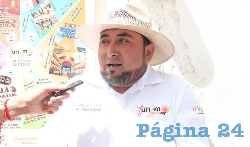 Gustavo García, operador turístico (Foto Rocío Castro)