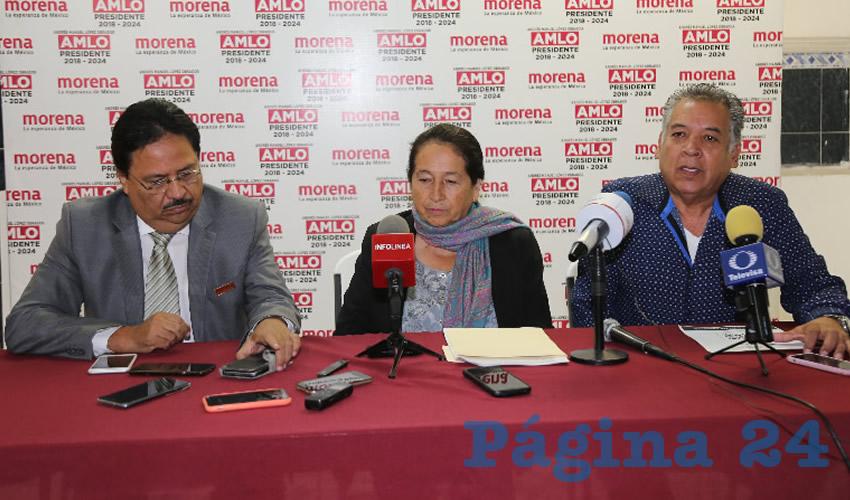 Rueda de prensa de Morena (Foto: Eddylberto Luévano Santillán)