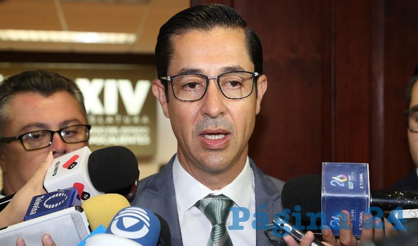 Luis Fernando Landeros Ortiz, consejero presidente del IEE (Foto: Eddylberto Luévano Santillán)