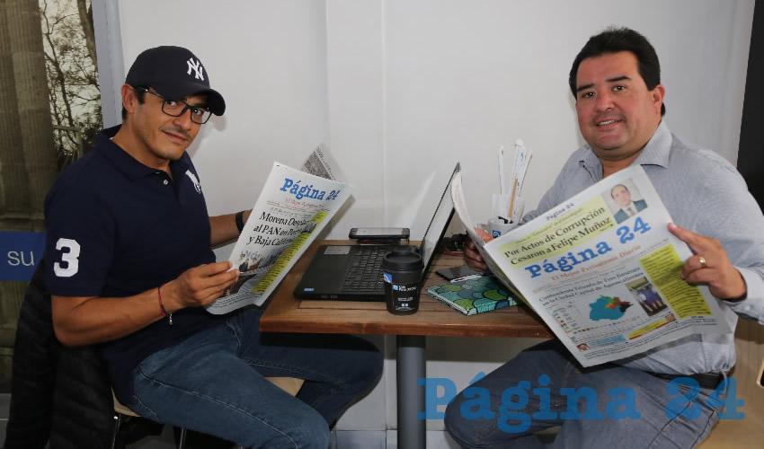 En Café Catedral platicaron Jaime Carrera Hernández y Jaime Hernández Hernández