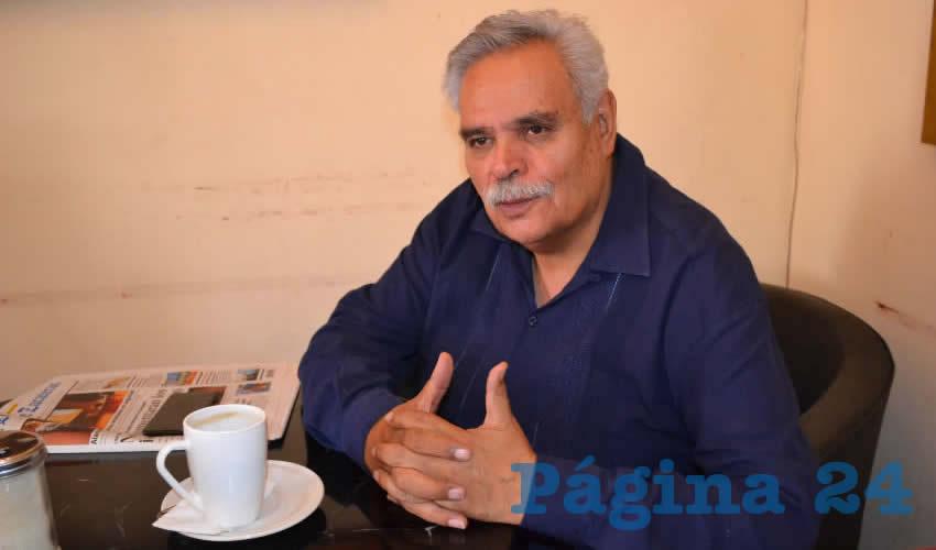 Luis Medina Lizalde, exdirigente estatal del Movimiento Regeneración Nacional (Morena) (Foto Merari Martínez)