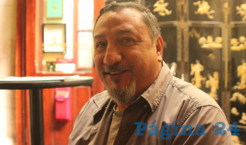 David de Jesús Díaz Leaños, administrador general de Plaza Tacuba y Artista (Foto Manuel Medina)
