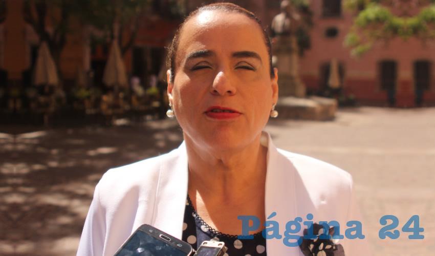 María de Lourdes Rodarte Díaz, titular de Instituto para la Atención e Inclusión de las Personas con Discapacidad (Foto Manuel Medina)