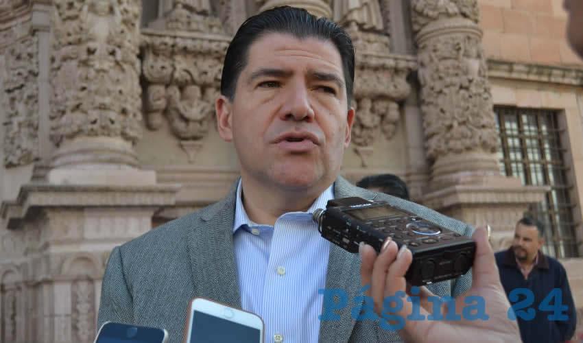 Víctor Rentería López, titular de la Secretaría de Administración (Foto Merari Martínez)