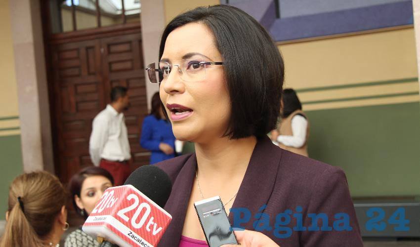 María de la Luz Domínguez Campos, titular de la Comisión de Derechos Humanos del Estado de Zacatecas (CDHEZ) (Foto Rocío Castro)