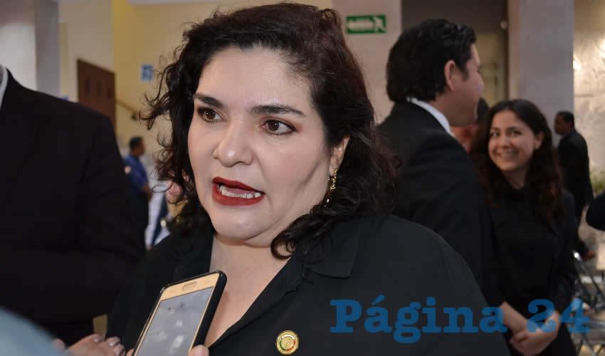 Navidad Rayas Ochoa, expuso que se debe privilegiar el dialogo, esto ante el reciente proceso interno del partido (Foto: Merari Martínez)