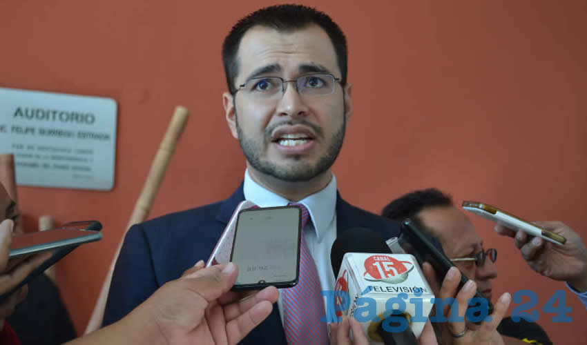 Jehú Salas Dávila, titular de la Secretaría General de Gobierno (Foto Merari Martínez)